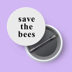 Image of save the bees badge