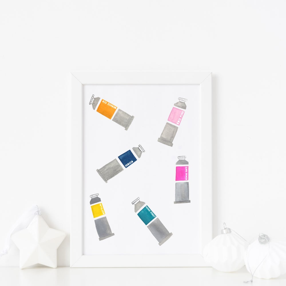 Image of Paint Tubes print