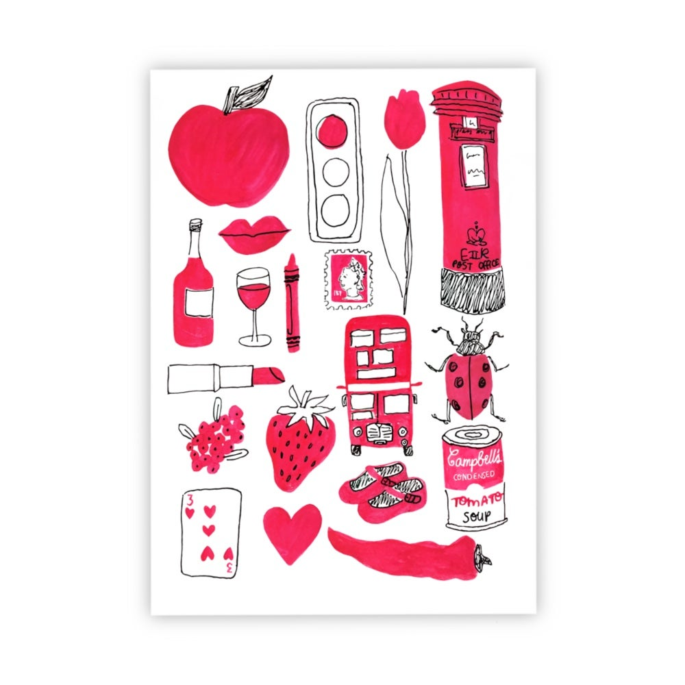 Image of Red Things print