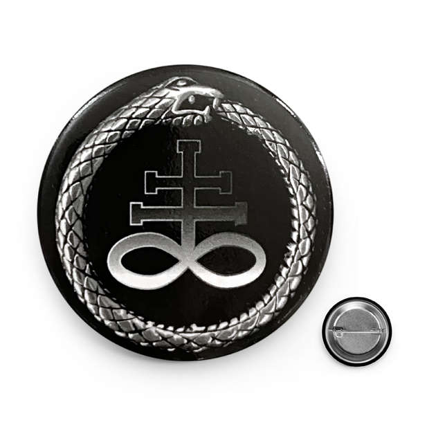 Ouroboros Leviathan Cross Button Pin