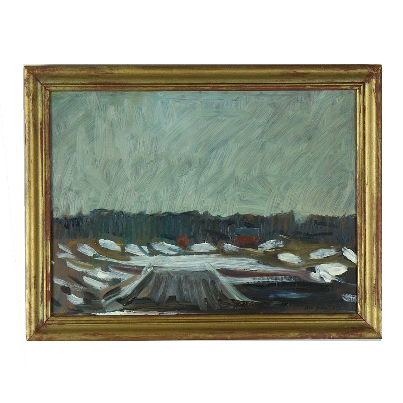 Image of Swedish Landscape Oil Painting, NILS SÖDERBERG (1903-1970)