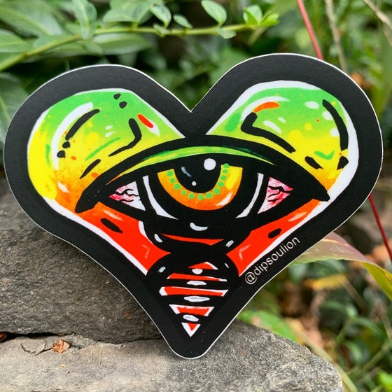 Image of Eye Heart One Love sticker