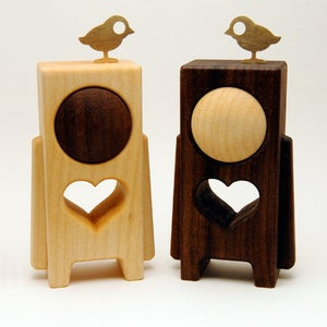 """Image of HEARTWOODS - 3.5"""" Wood Toy by pepe (No.12/24 & No.13/24)"""