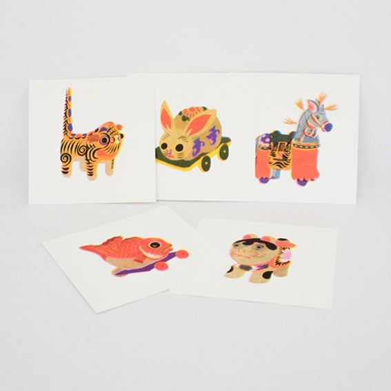 Image of Set of 5 riso prints - square 16cm
