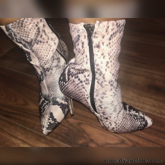 Image of Snake Print Boots