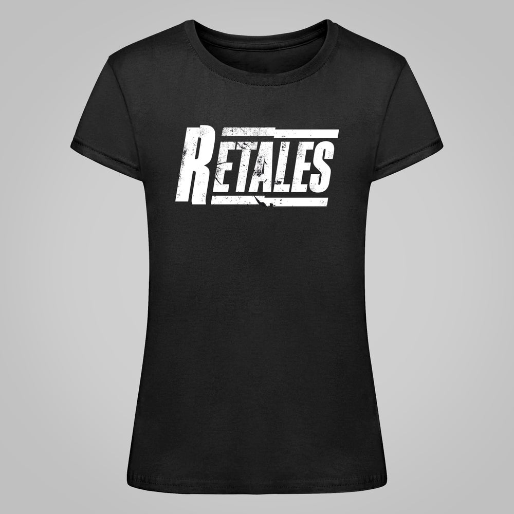 Camiseta Negra Logo Blanco (Chica)