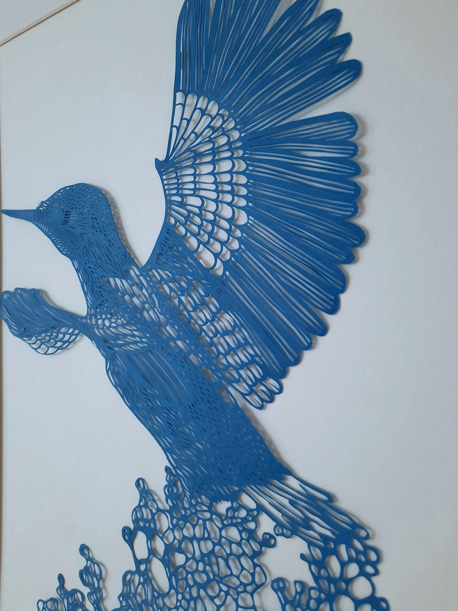 Image of Hand Cut Kingfisher