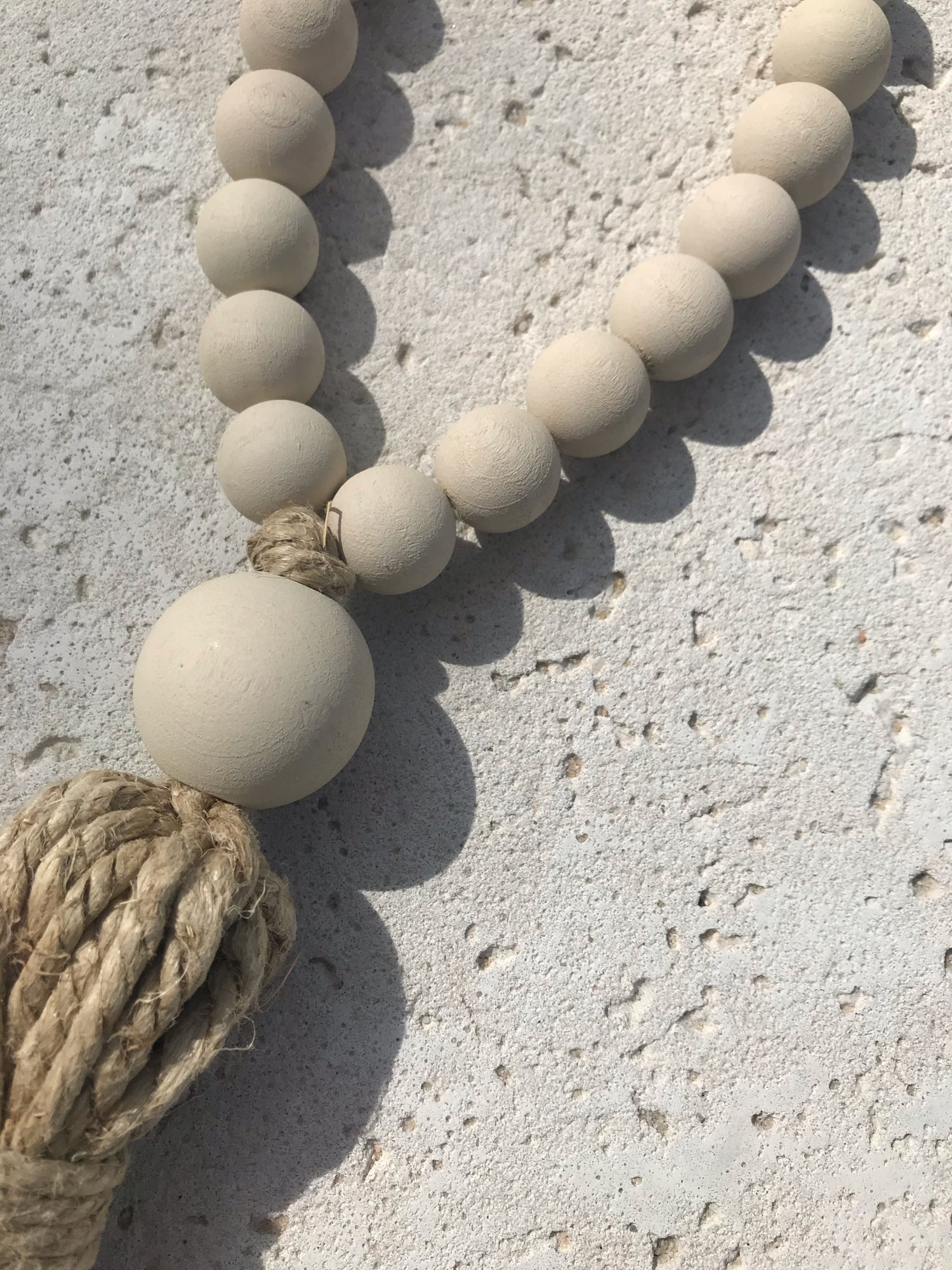 Image of Welcome Tassel in Stone
