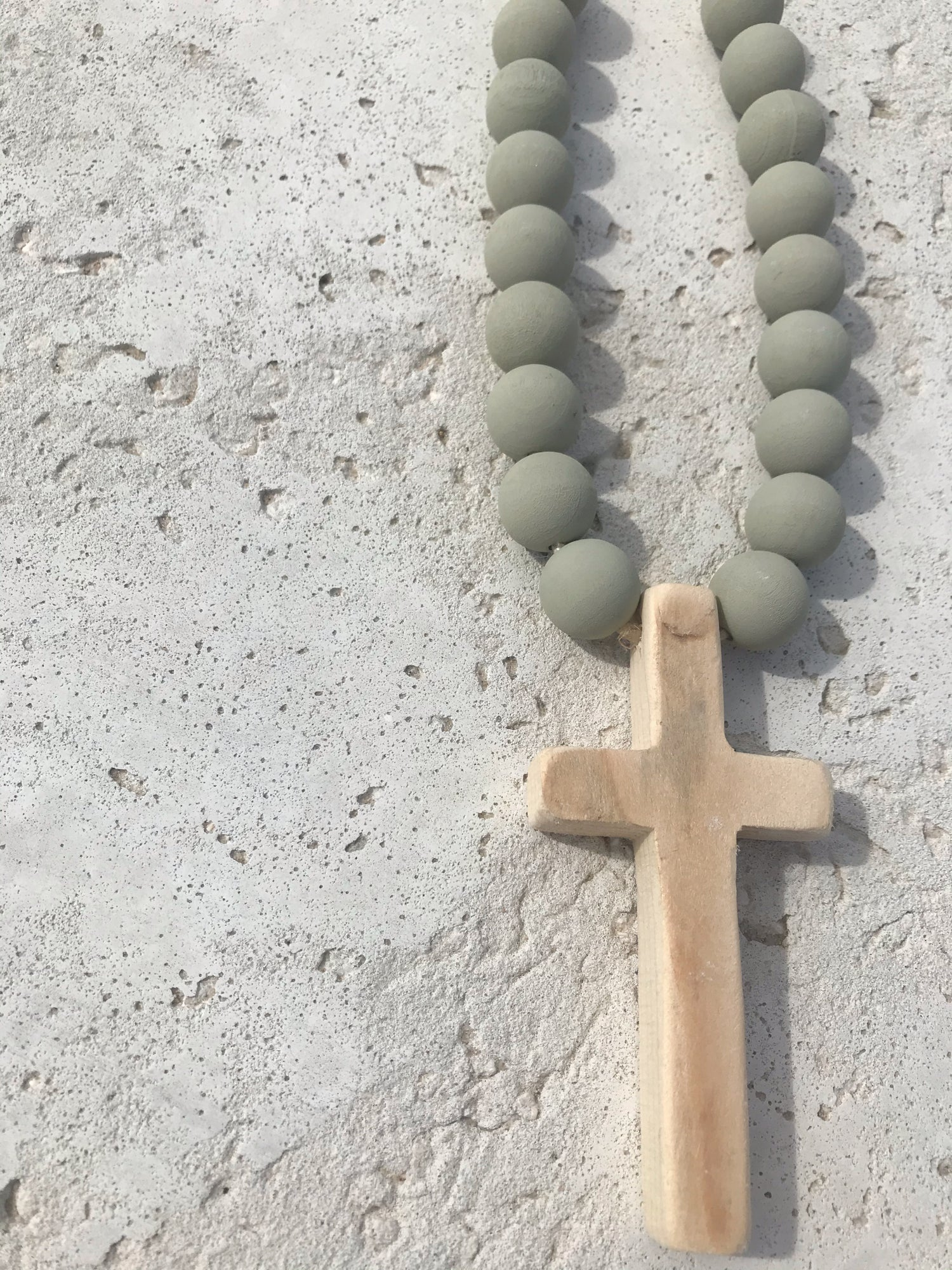 Image of 'Surf' Mini Beads with Wooden Cross
