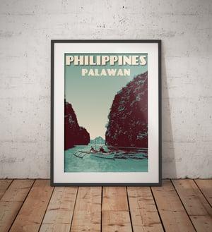 Image of Vintage poster Philippines - Palawan Island | Wall Art Decor | Travel Poster | Fine Art Print