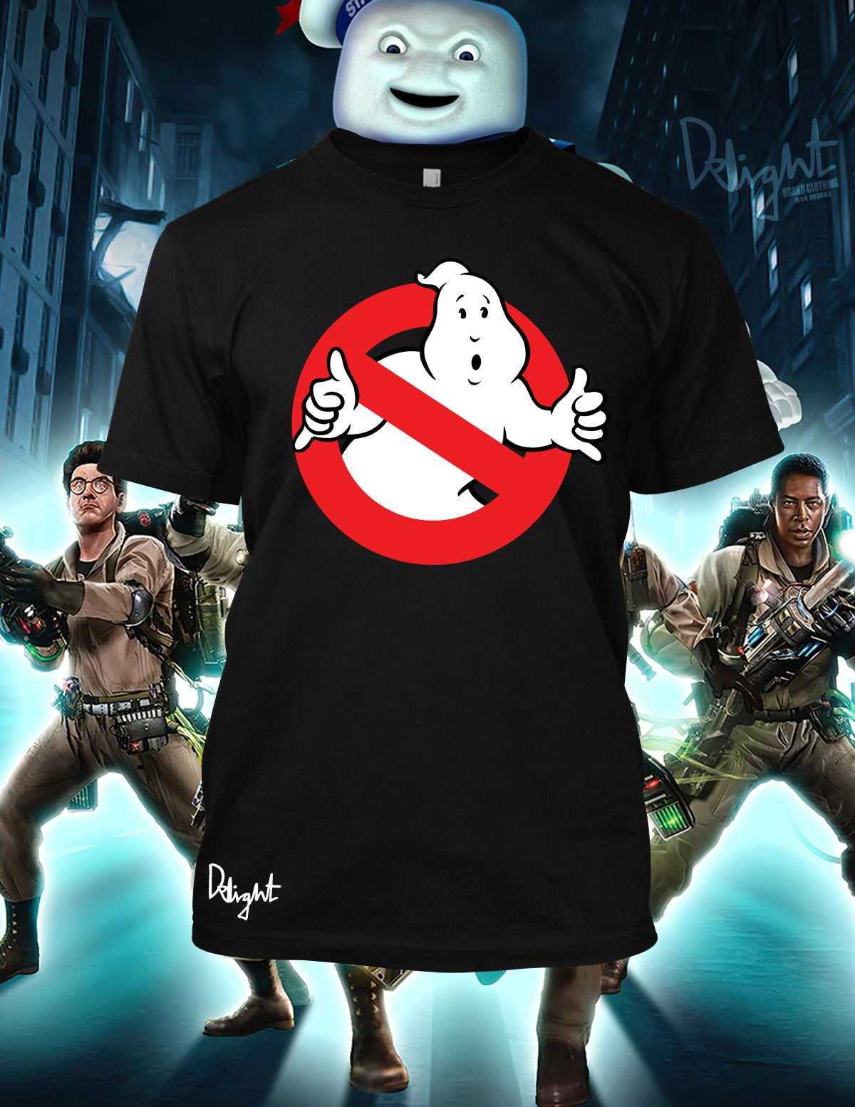 Ghost Bustah T-shirt (Black) Adults & Kids Sizes