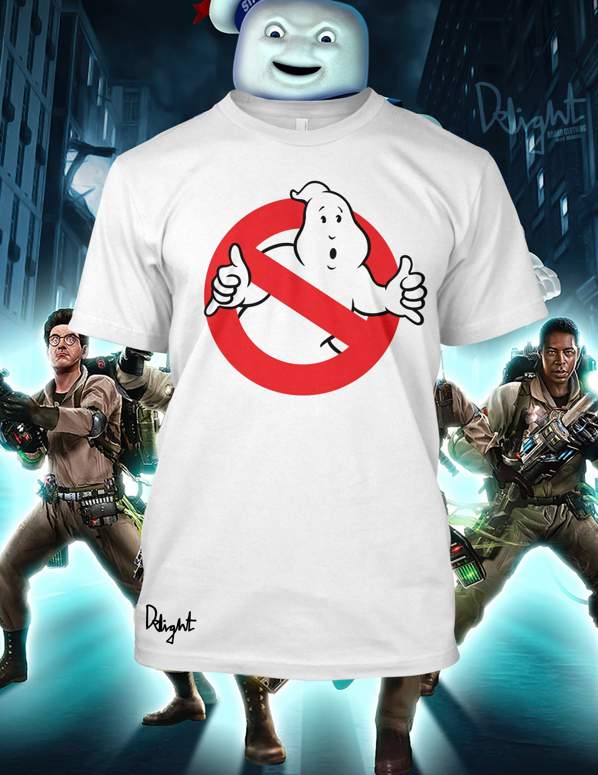 Ghost Bustah T-shirt (White) Adults & Kids Sizes