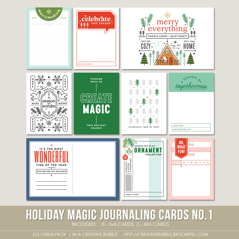 Image of Holiday Magic Journaling Cards No.1 (Digital)