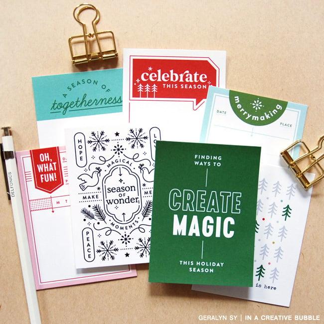 Image of Holiday Magic Journaling Cards No.1 (Digital)