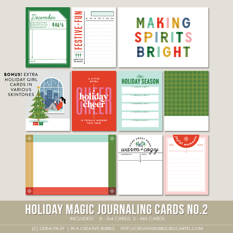 Image of Holiday Magic Journaling Cards No.2 (Digital)