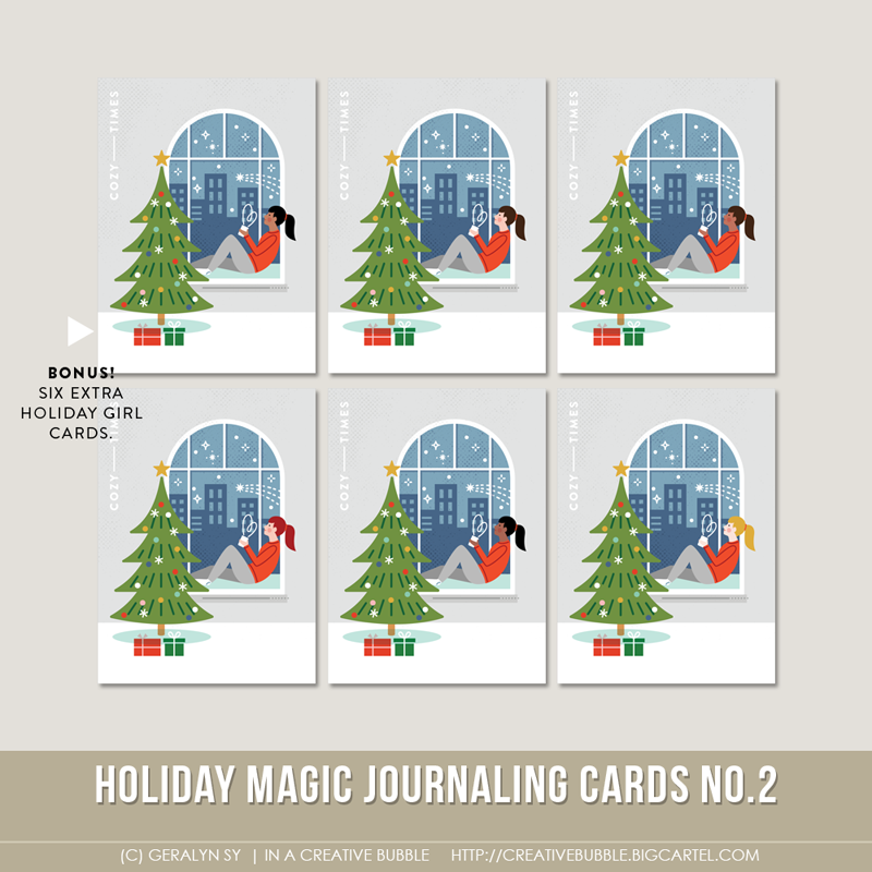 Image of Holiday Magic Journaling Cards No.2 (Digital)