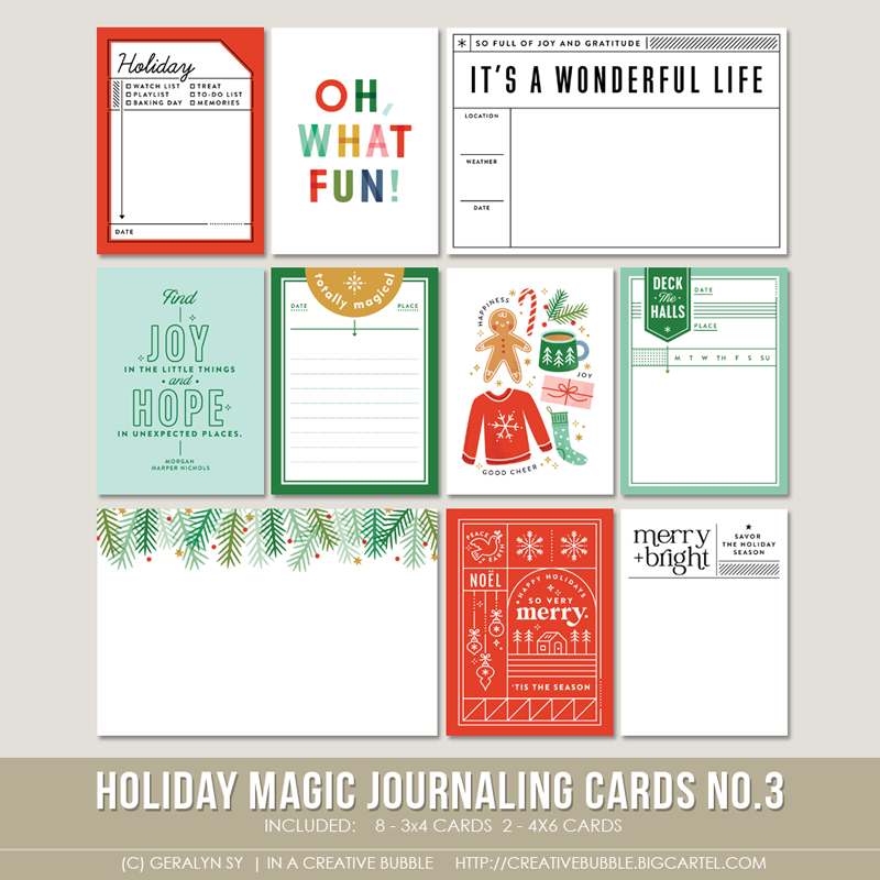 Image of Holiday Magic Journaling Cards No.3 (Digital)