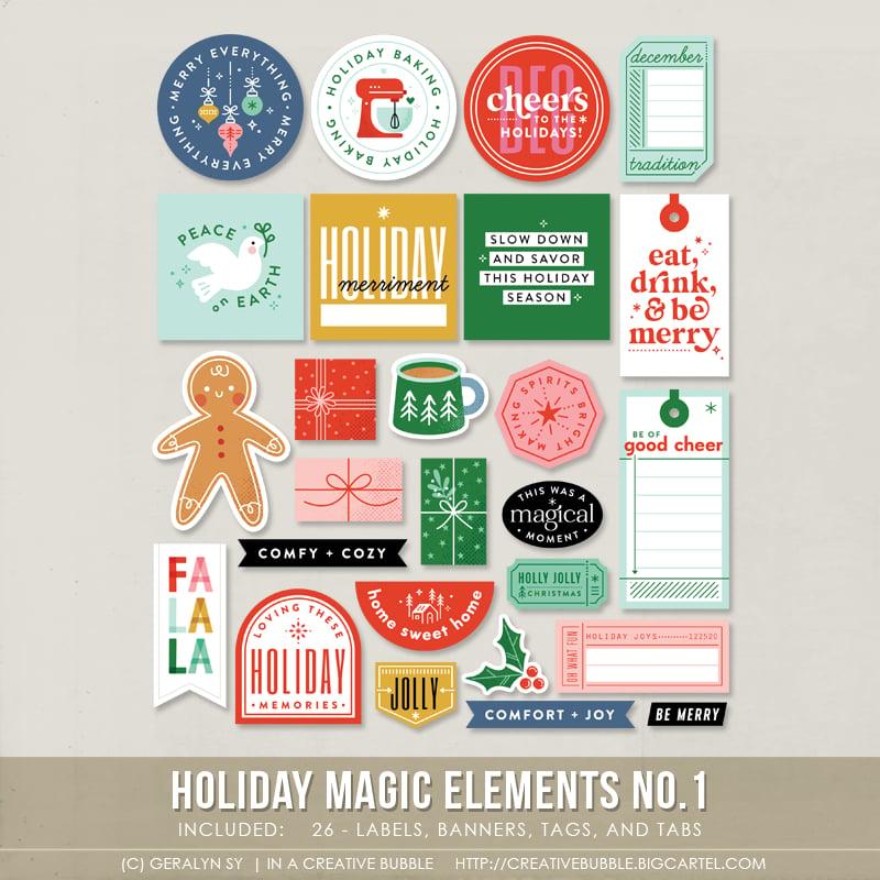 Image of Holiday Magic Elements No.1 (Digital)