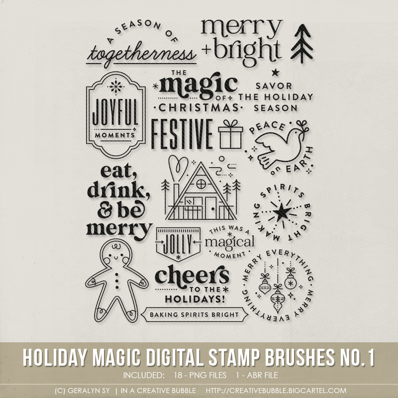Image of Holiday Magic Stamp Brushes No.1 (Digital)