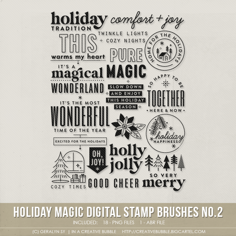 Image of Holiday Magic Stamp Brushes No.2 (Digital)