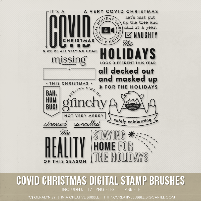 Image of Covid Christmas Stamp Brushes (Digital)