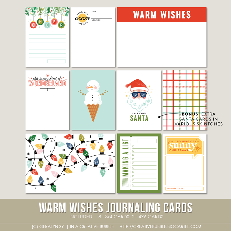 Image of Warm Wishes Journaling Cards (Digital)