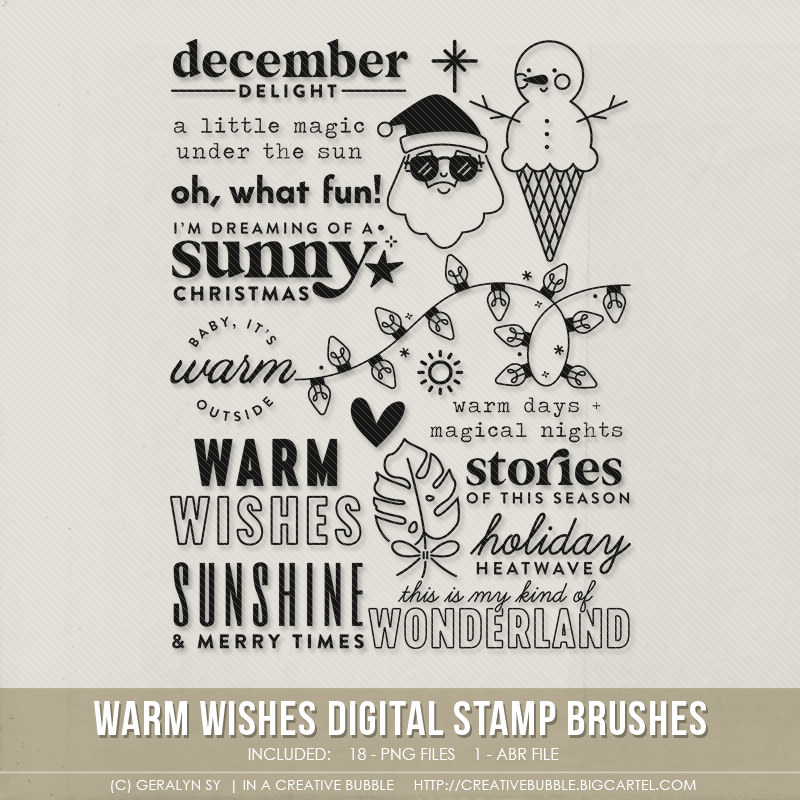 Image of Warm Wishes Stamp Brushes (Digital)