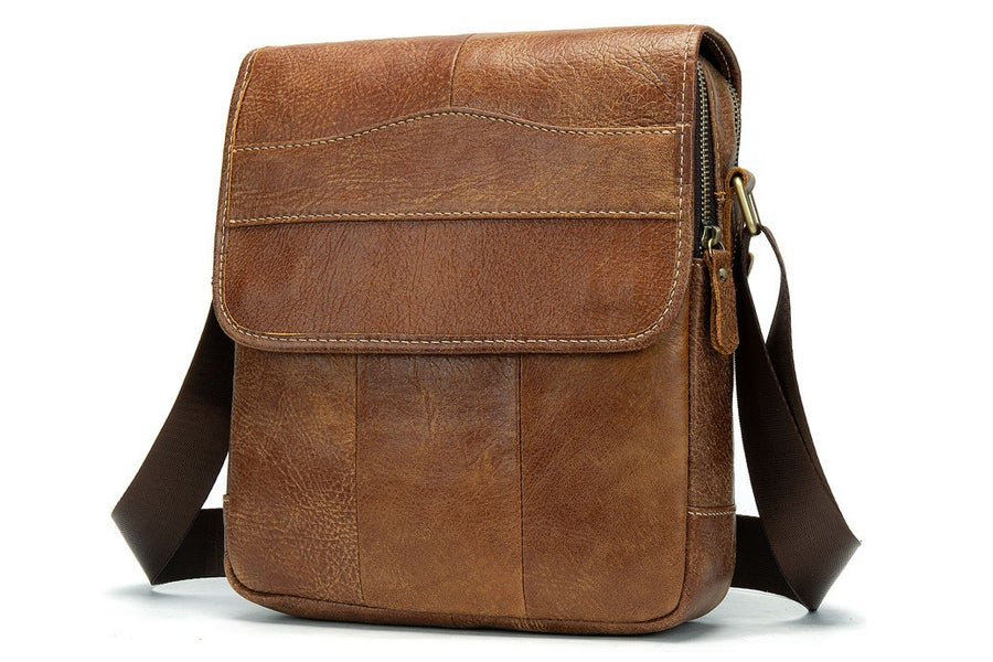 Image of Handmade Top Grain Leather Men's Messenger Bag, Shoulder Bag, Satchel Bag 1211
