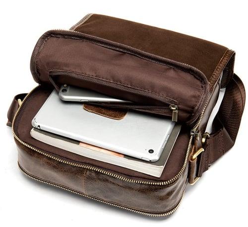 Image of Handmade Top Grain Leather Men's Messenger Bag, Shoulder Bag, Satchel Bag 1211