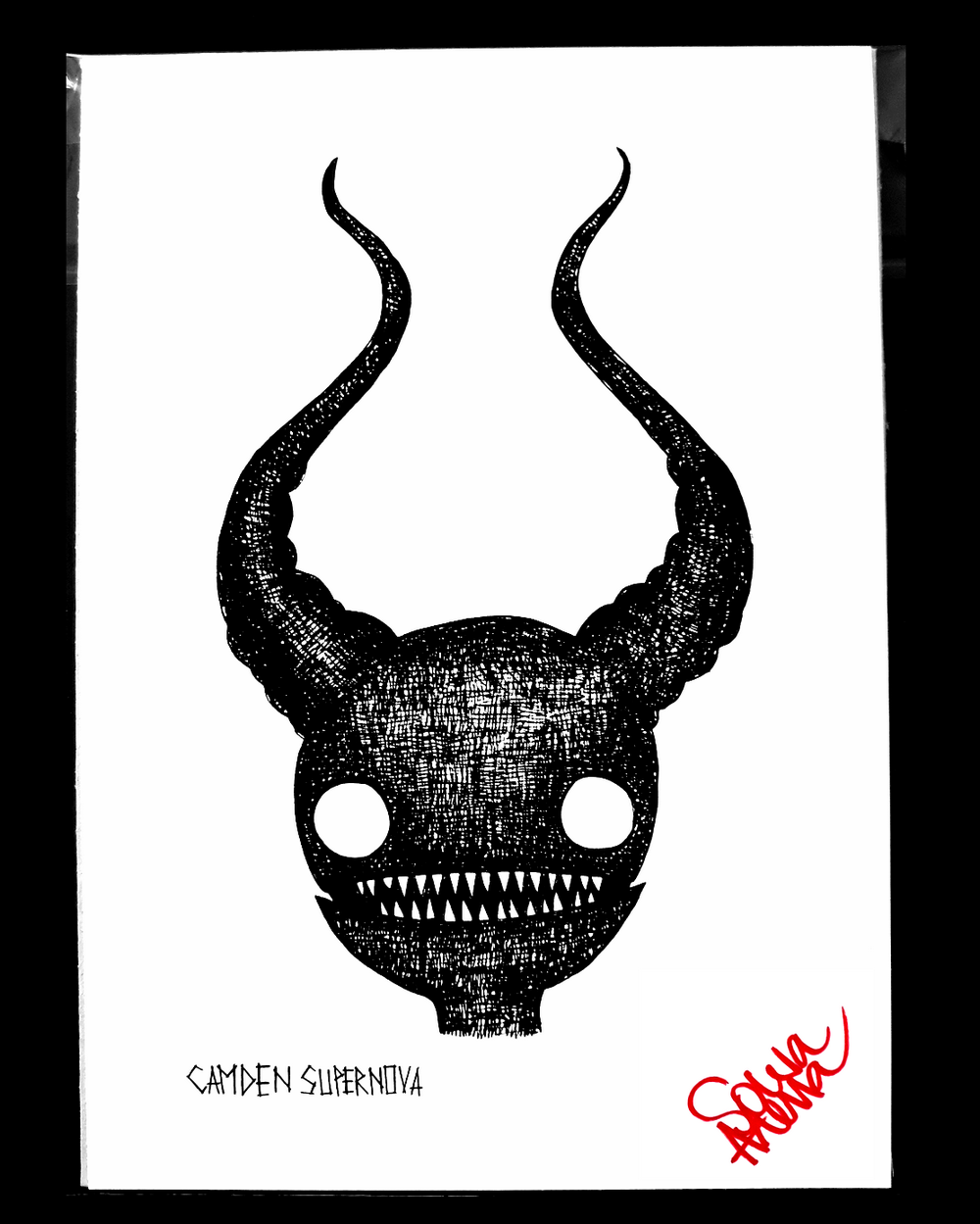 Image of Horns Print