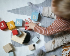 Image of Ime mi je ... Kocke s črkami // My name is ... Personalized wooden blocks