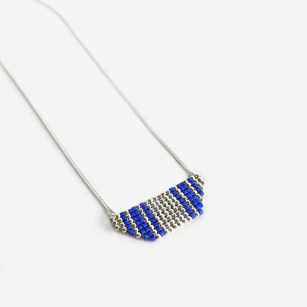 """Image of Collier en argent Bleu """"Inca"""""""