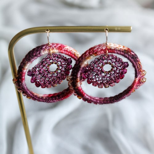 Image of ALHAMBRA HOOPS - Pomegranate