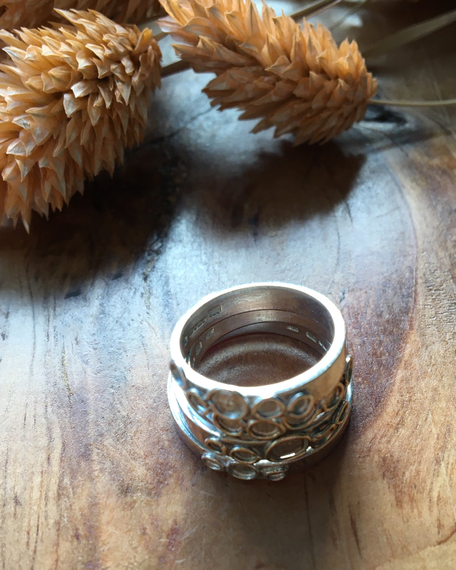 Image of Delicate Recycled Silver and Gold Ring