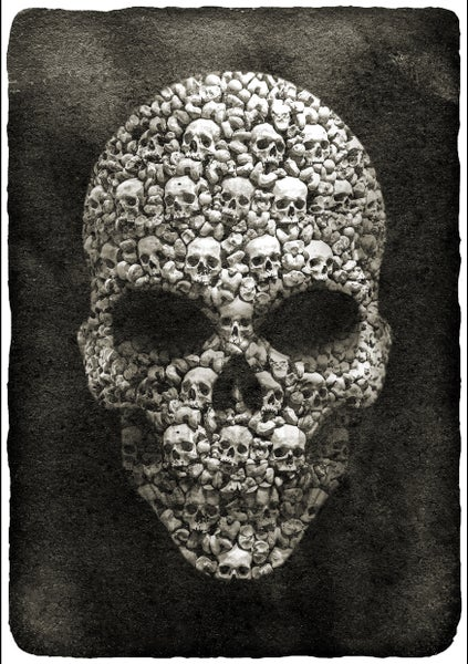 Image of SKULL ART PRINT A3 | SIGNED, NUMBERED LTD ED. OF 100