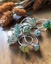 Gorgeous  Green Sea Glass and Recycled Silver Ring
