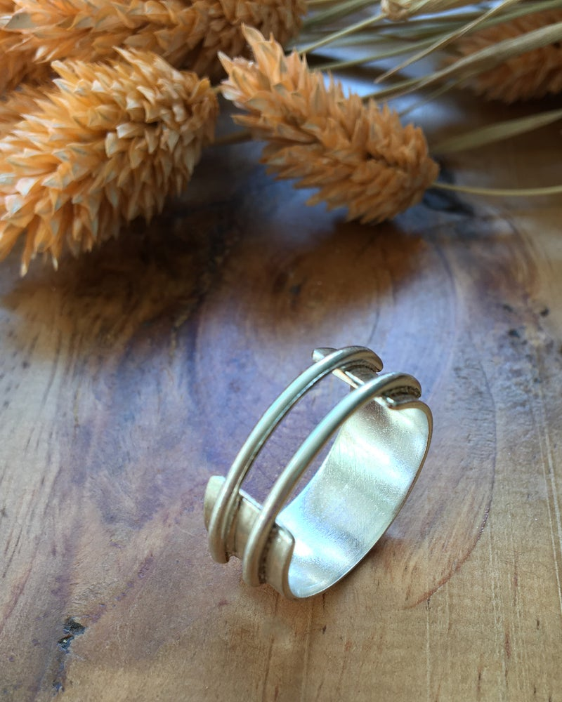 Image of Recycled Chunky Silver Ring based on Park Hill Flats