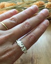 Recycled Silver Delicate Water Cast Ring