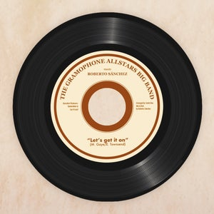 Image of THE GRAMOPHONE ALLSTARS meets ROBERTO SÁNCHEZ - LET'S GET IT ON / LET'S DUB ON. Vinyl 7""