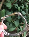 Recycled Silver Chunky Rope Twist Bangle with Gold Leaf Keum Boo Detail