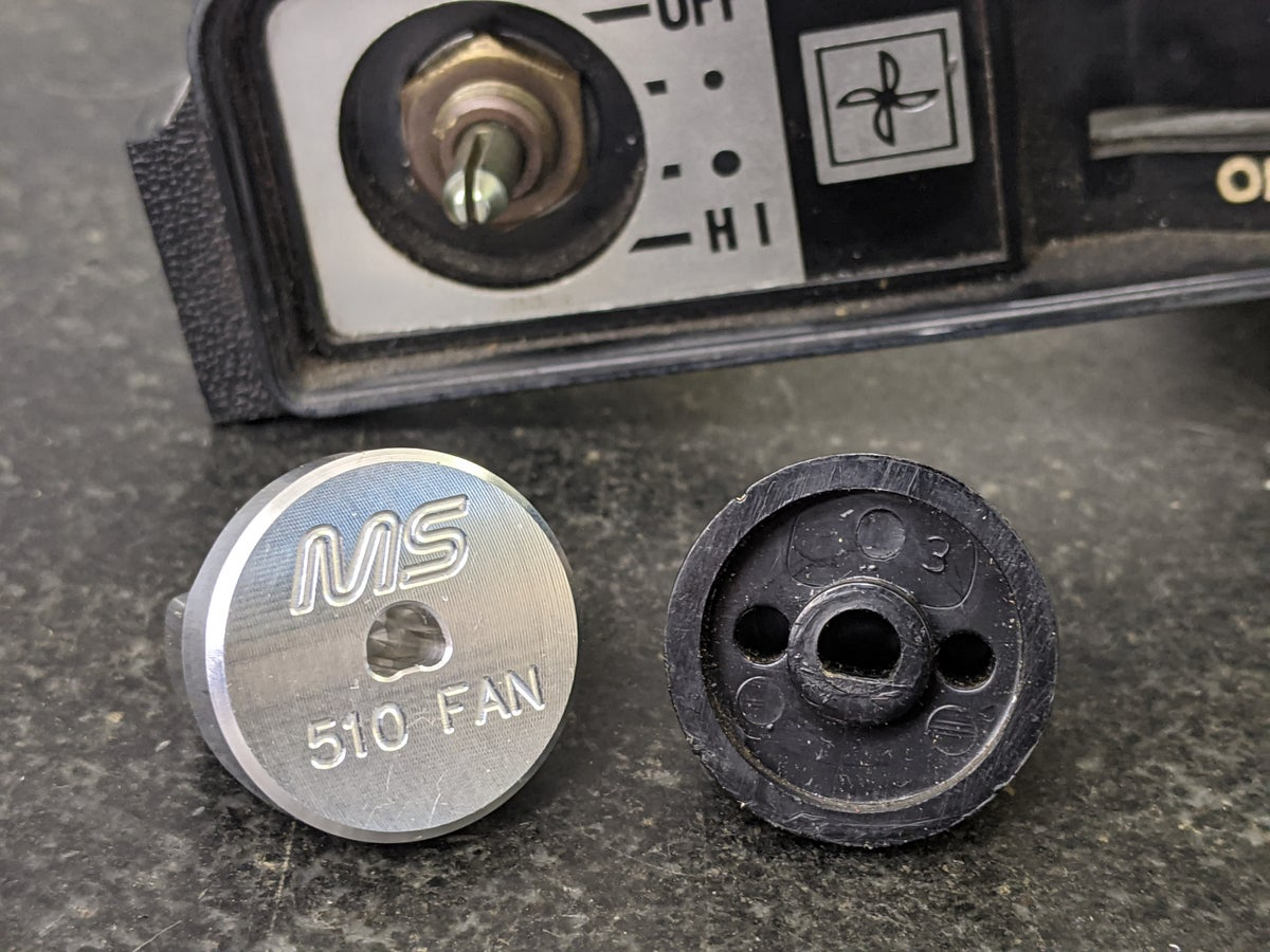 510 Heater fan switch knob