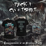 Image of INHUMAN DEPRAVATION - CONSEQUENCES...CD + T-SHIRT PACK