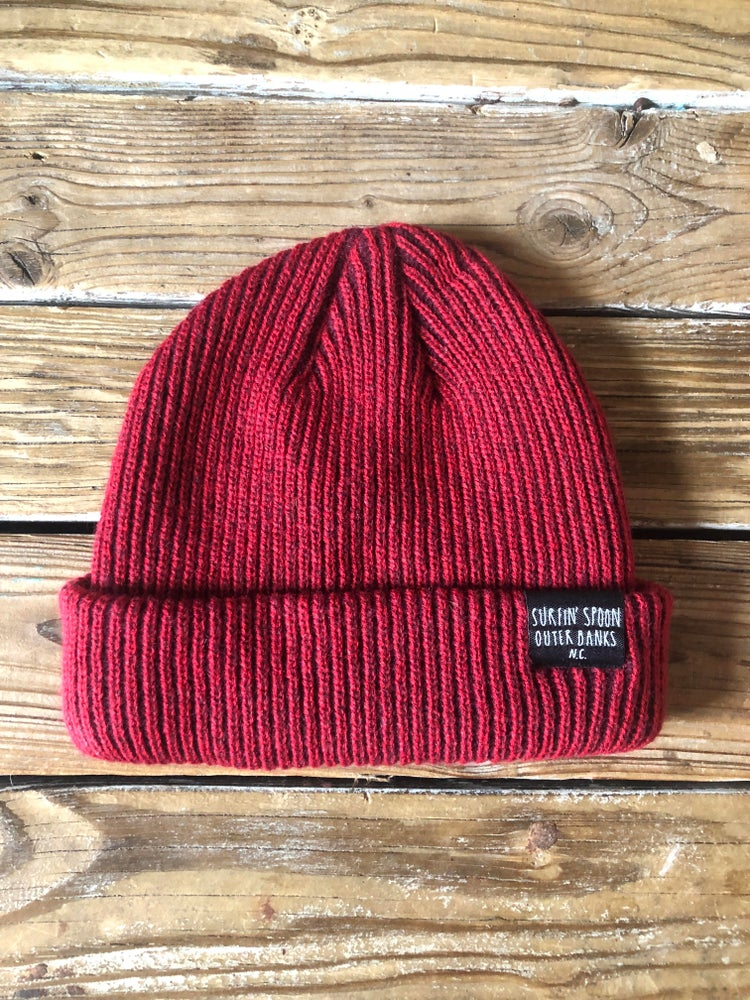 Image of Surfin Spoon Beanie - Red