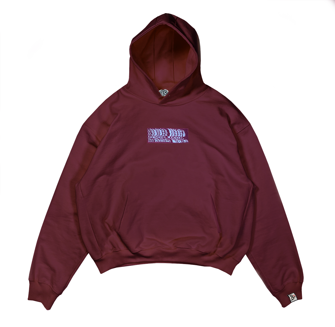 Image of 8th Dimension  Burgundy Hoodie