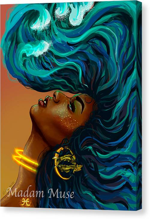 """Image of """"Queen Pisces"""" Limited Edition Canvas Prints"""