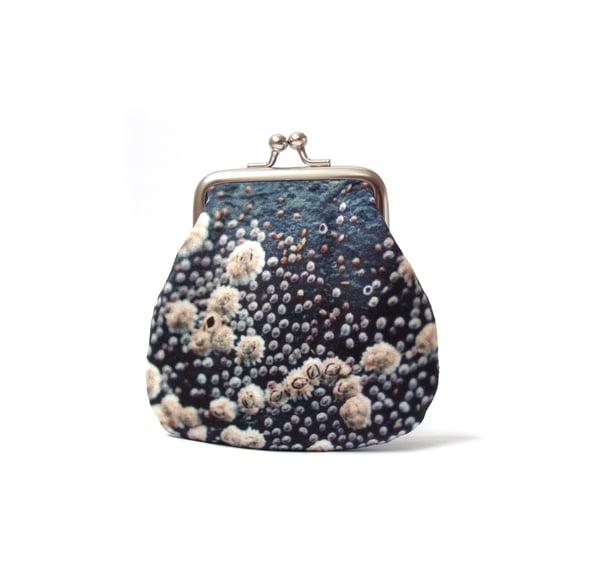 Image of Barnacles velvet kisslock coin purse
