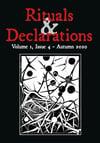 Rituals & Declarations - Volume 1, Issue 4 - Autumn 2020