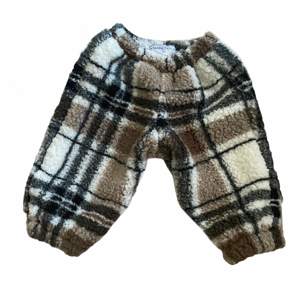 Image of Plaid Sherpa Joggers — Baby