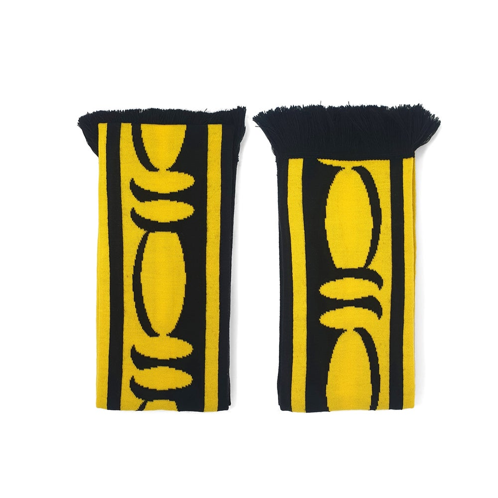 Image of Bead and Reel Scarf: Yellow / Black edition