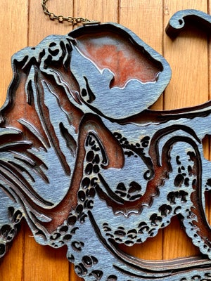 Image of Octopus Faux Stained Glass